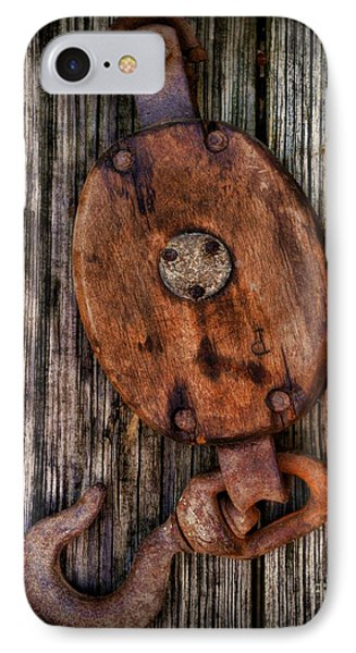Boat - Block And Tackle Phone Case by Paul Ward