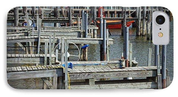 Boat Docks In Lake Macatawa IPhone Case by Randall Nyhof