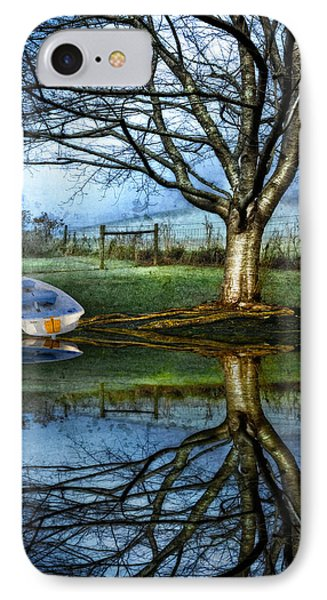 Boat On The Lake Phone Case by Debra and Dave Vanderlaan