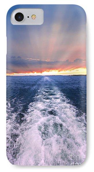 Boat Wake On Georgian Bay  IPhone Case by Elena Elisseeva