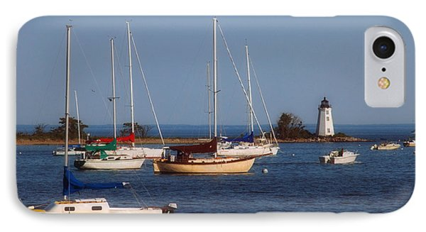 Boating On Long Island Sound Phone Case by Joann Vitali