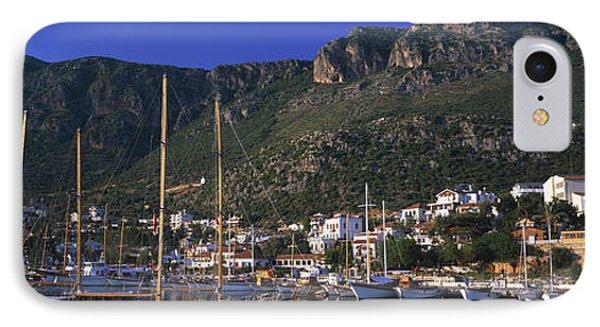 Boats At A Marina, Kas, Antalya IPhone Case by Panoramic Images