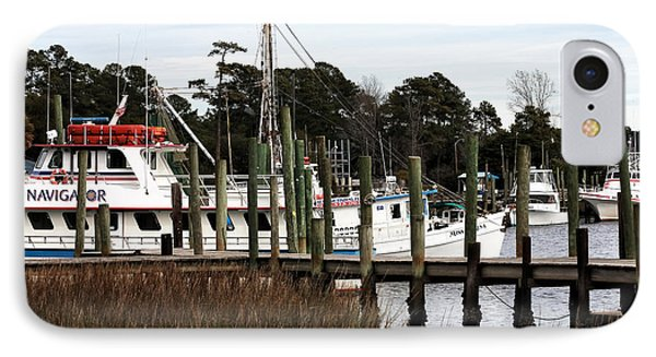 Boats At Little River Phone Case by John Rizzuto