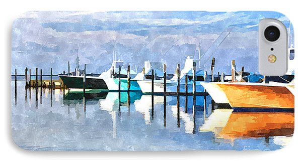 Boats At Oregon Inlet Outer Banks IIi IPhone Case by Dan Carmichael