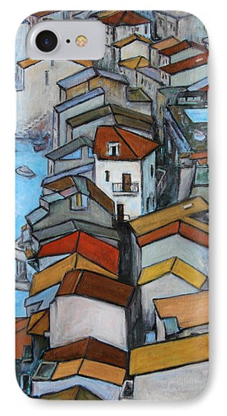 Boats In Front Of The Buildings Iv Phone Case by Xueling Zou