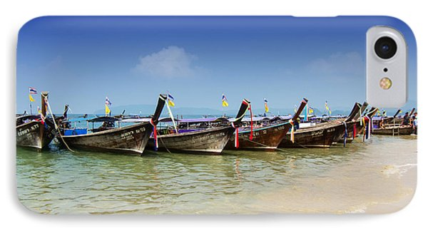 Boats In Thailand Phone Case by Zoe Ferrie
