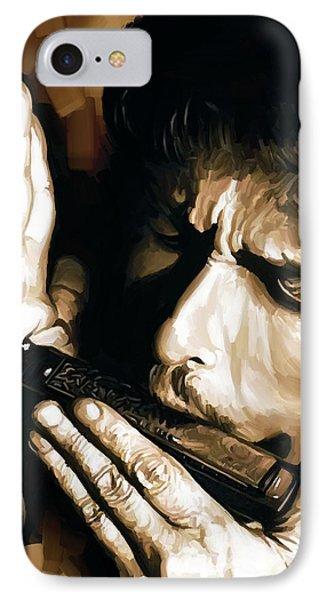 Bob Dylan Artwork 2 IPhone Case by Sheraz A