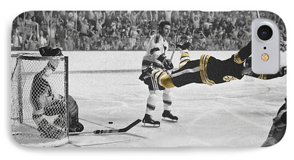 Bobby Orr 2 IPhone Case by Andrew Fare