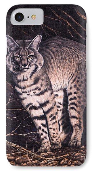 Bobcat IPhone Case by Ricardo Chavez-Mendez