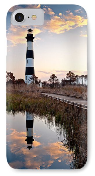 Bodie Island Lighthouse - Cape Hatteras Outer Banks Nc IPhone Case by Dave Allen