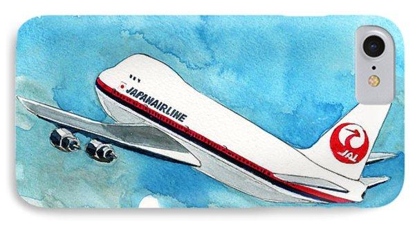 Boeing 747 Jumbo IPhone Case by Yoshiharu Miyakawa