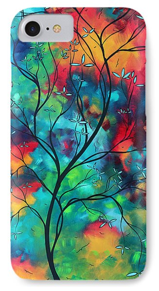 Bold Rich Colorful Landscape Painting Original Art Colored Inspiration By Madart IPhone Case by Megan Duncanson