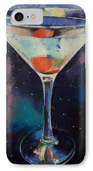 Bombay Sapphire Martini IPhone Case by Michael Creese