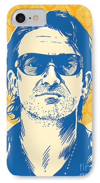 Bono Pop Art IPhone Case by Jim Zahniser