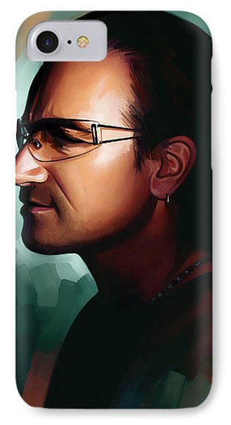 Bono U2 Artwork 1 IPhone Case by Sheraz A