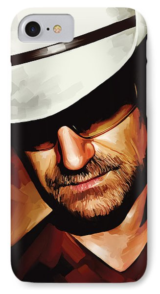 Bono U2 Artwork 3 IPhone Case by Sheraz A
