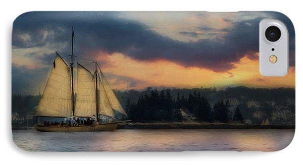 Boothbay Harbor Schooner Phone Case by Lori Deiter