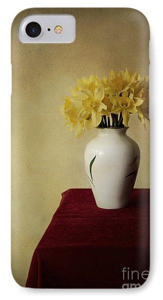 Boquet Of Daffodils In White Pot  IPhone Case by Jaroslaw Blaminsky