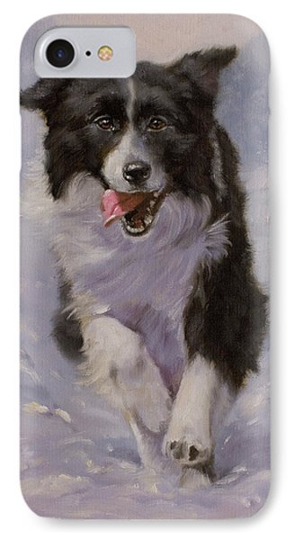 Border Collie Portrait II Phone Case by John Silver