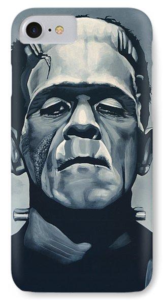 Boris Karloff As Frankenstein  IPhone Case by Paul Meijering