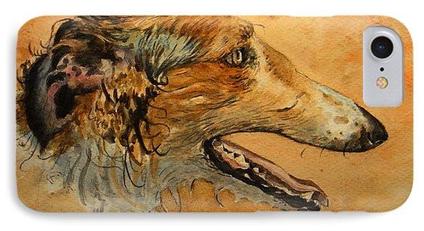 Borzoi Dog IPhone Case by Juan  Bosco