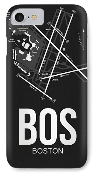 Boston Airport Poster 1 IPhone Case by Naxart Studio