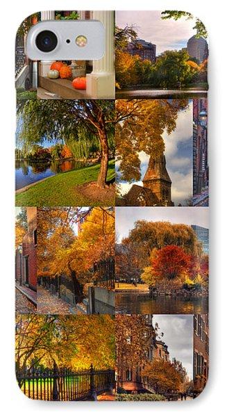 Boston Autumn Days Phone Case by Joann Vitali