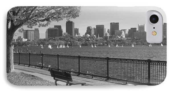 Boston Charles River Black And White  IPhone Case by John Burk