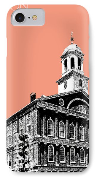 Boston Faneuil Hall - Salmon IPhone 7 Case by DB Artist