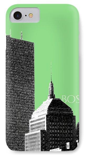Boston Hancock Tower - Sage Phone Case by DB Artist