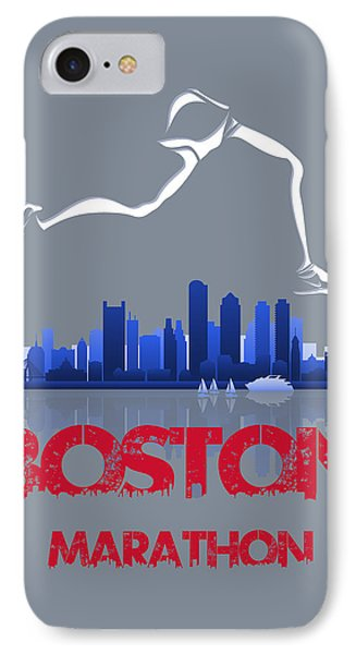 Boston Marathon3 IPhone 7 Case by Joe Hamilton