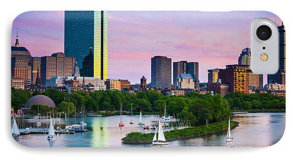 Boston Skyline IPhone Case by Inge Johnsson