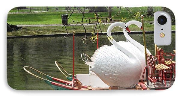 Boston Swan Boats IPhone Case by Barbara McDevitt