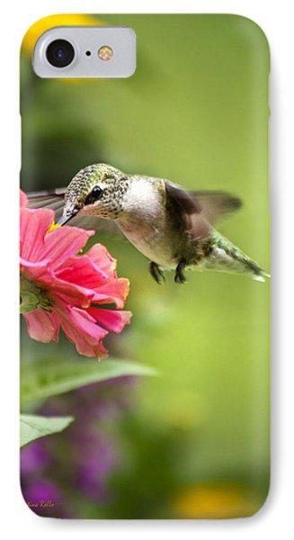 Botanical Hummingbird Phone Case by Christina Rollo
