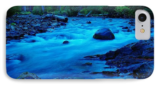 Boulder In The Rapids  IPhone Case by Jeff Swan