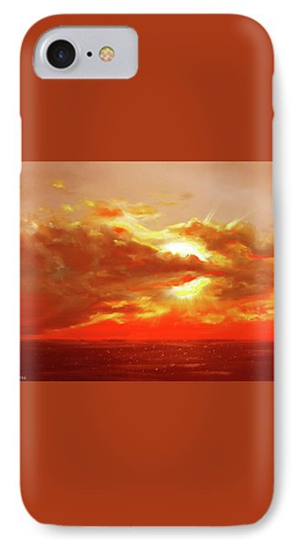 Bound Of Glory - Red Sunset  Phone Case by Gina De Gorna