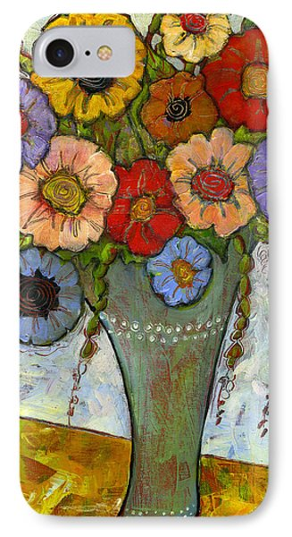 Bouquet Of Flowers IPhone Case by Blenda Studio