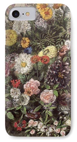 Bouquet Of Flowers IPhone Case by Ferdinand Victor Eugene Delacroix