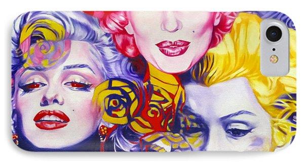 Bouquet Of Marilyn Phone Case by Rebecca Glaze