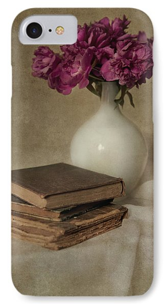 Bouquet Of Peonies And Old Books IPhone Case by Jaroslaw Blaminsky