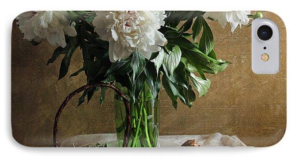 Bouquet Peonies Flowers IPhone Case by Vitaliy Gladkiy