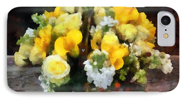 Bouquet With Roses And Calla Lilies Phone Case by Susan Savad