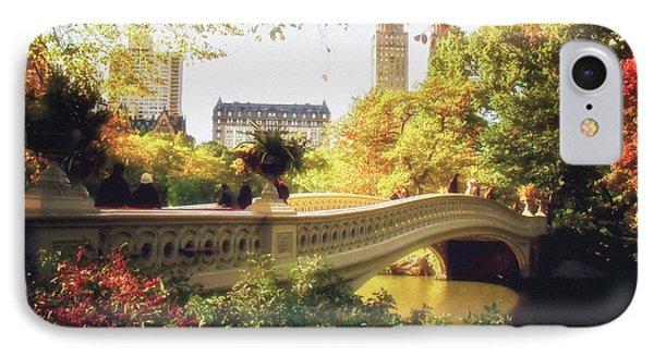 Bow Bridge - Autumn - Central Park IPhone Case by Vivienne Gucwa