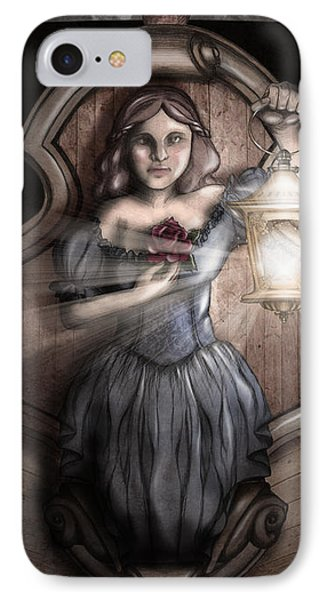 Bow Maiden IPhone Case by April Moen