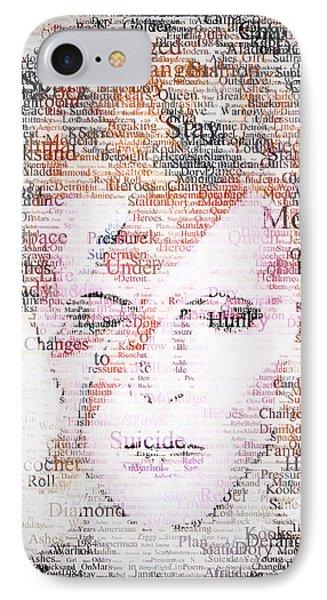 Bowie Typo IPhone Case by Taylan Soyturk