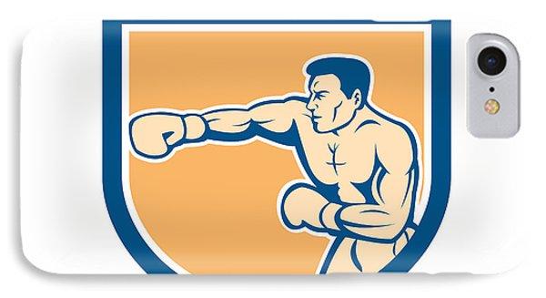 Boxer Boxing Punching Shield Cartoon Phone Case by Aloysius Patrimonio