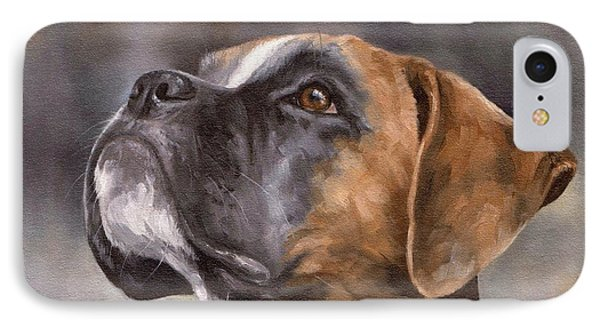 Boxer Painting IPhone Case by Rachel Stribbling