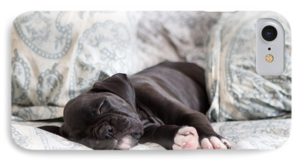 Boxer Puppy Sleeping IPhone Case by Stephanie McDowell