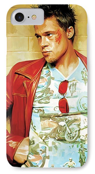 Brad Pitt Artwork IPhone Case by Sheraz A