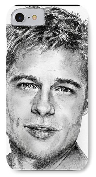 Brad Pitt In 2006 Phone Case by J McCombie